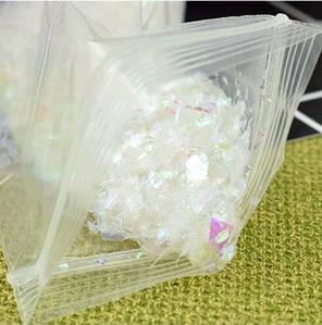 Битое стекло белое для слаймов (50550)