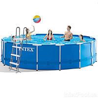 Каркасный бассейн Intex 28242 - 1 New, 457 x 122 см (тент, подстилка, лестница)