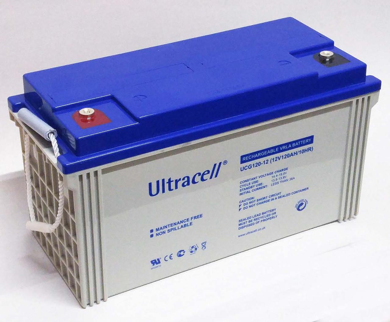 Батарея аккумуляторная Ultracell UCG120-12, 12В, 120Ач, GEL