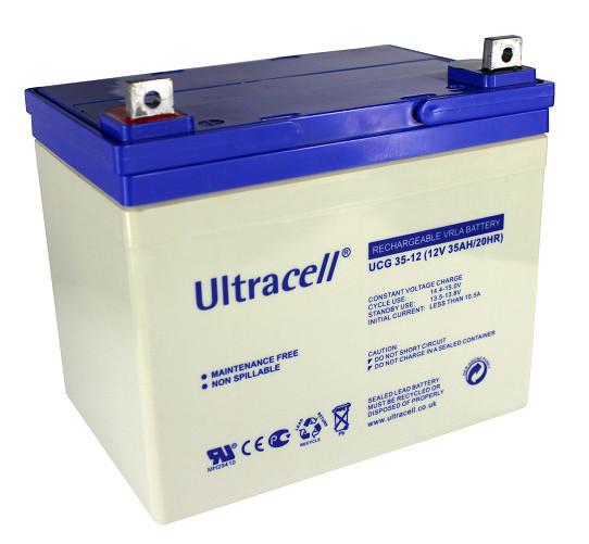 Батарея аккумуляторная Ultracell UCG35-12, 12В, 35Ач, GEL