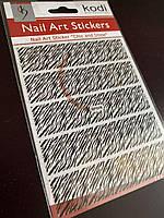 Слайдер для ногтей Kodi Professional Nail Art Stickers, черный, BP008