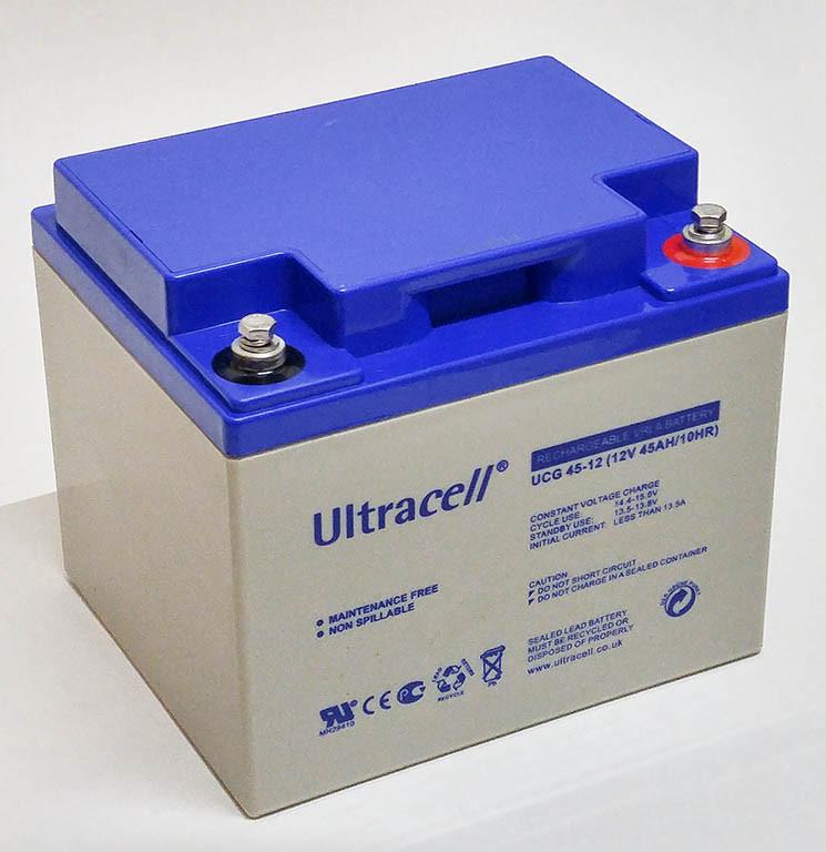 Батарея аккумуляторная Ultracell UCG45-12, 12В, 45Ач, GEL