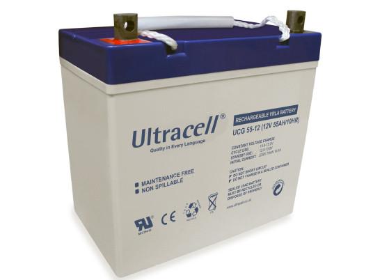 Батарея аккумуляторная Ultracell UCG55-12, 12В, 55Ач, GEL