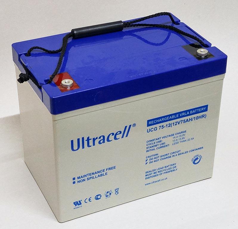 Батарея аккумуляторная Ultracell UCG75-12, 12В, 75Ач, GEL