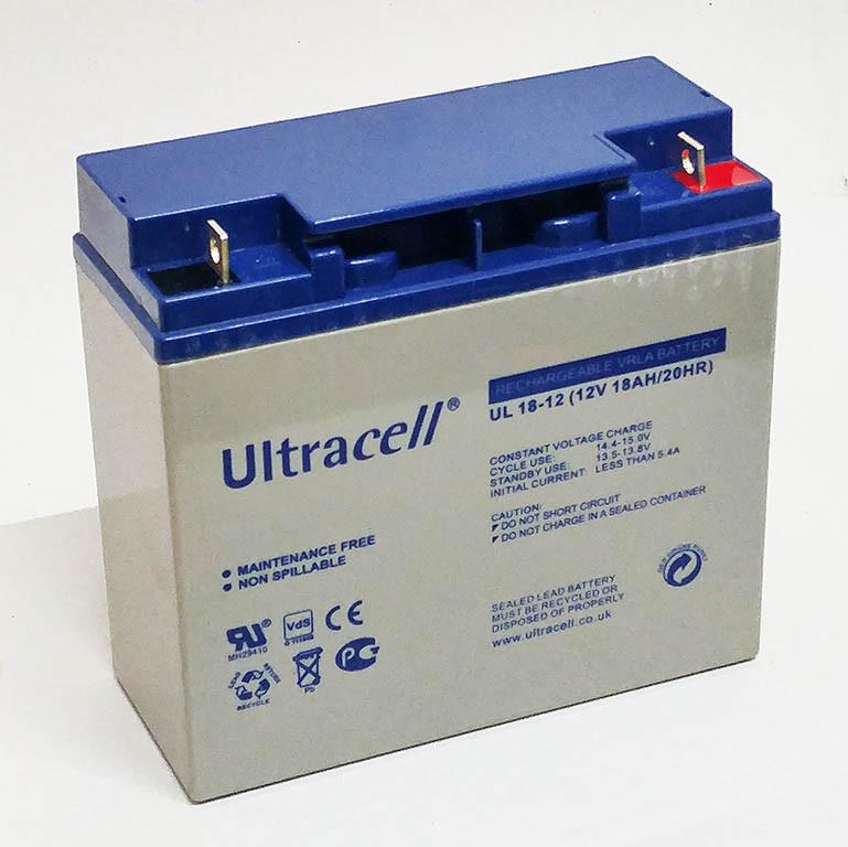 Батарея аккумуляторная Ultracell UL18-12, 12В, 18Ач, AGM