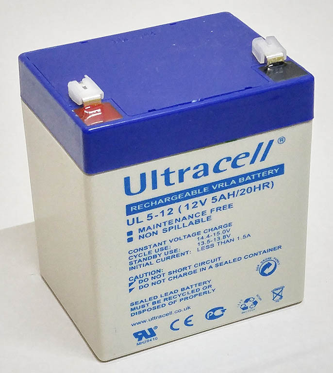 Батарея аккумуляторная Ultracell UL5-12, 12В, 5Ач, AGM