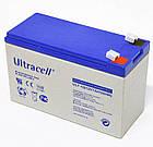Батарея аккумуляторная Ultracell UL7-12, 12В, 7Ач, AGM, фото 2