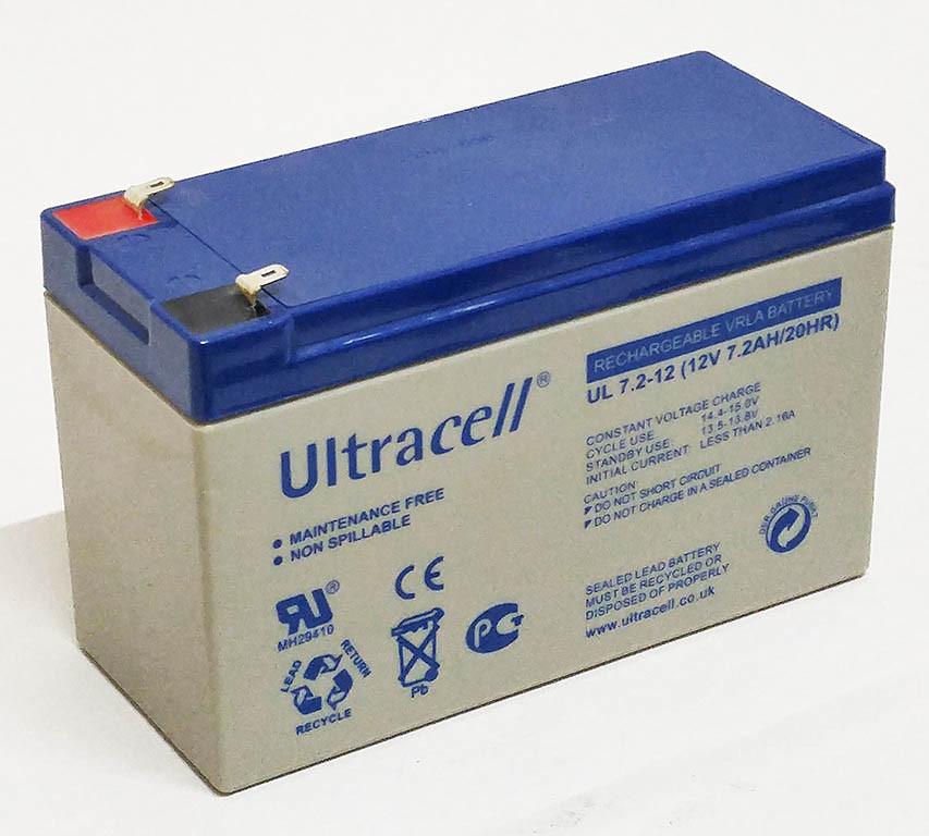 Батарея аккумуляторная Ultracell UL7.2-12, 12В, 7,2Ач, AGM