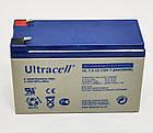 Батарея аккумуляторная Ultracell UL7.2-12, 12В, 7,2Ач, AGM, фото 2
