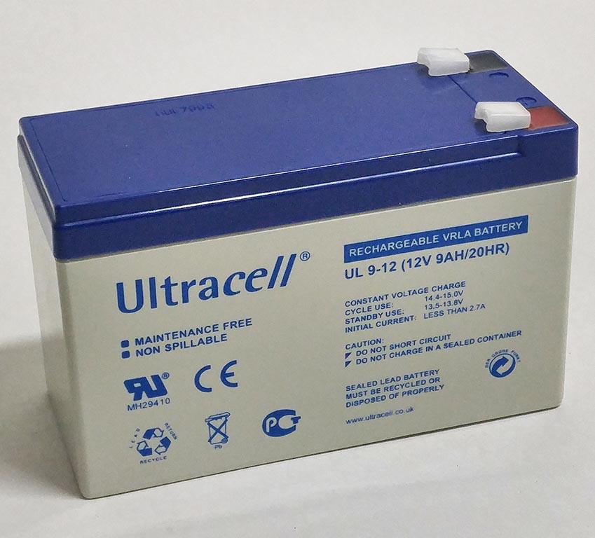 Батарея аккумуляторная Ultracell UL9-12, 12В, 9Ач, AGM