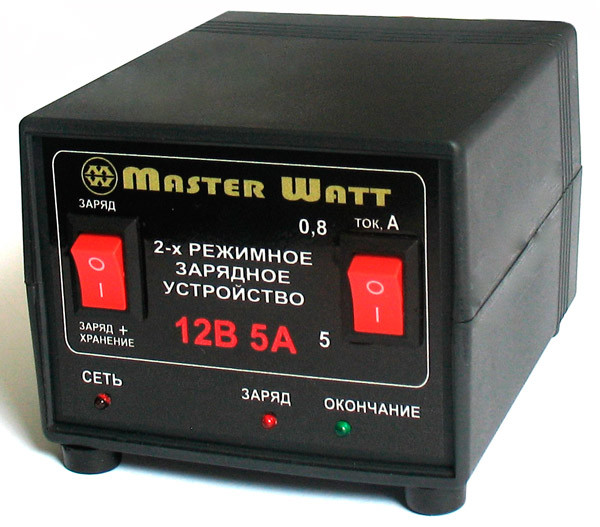 Автоматическое зарядное устройство 0,8-5А 12В 2-х режимное для AGM и GEL аккумуляторов