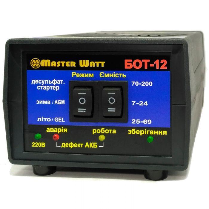 БОТ-12 Автоматическое десульфатирующее зарядное устройство для AGM и GEL аккумуляторов