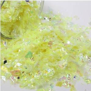 Битое стекло желтое для слаймов (50549)