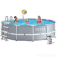 Каркасный бассейн Intex 28726, 366 х 122 см (3 785 л/ч, лестница)