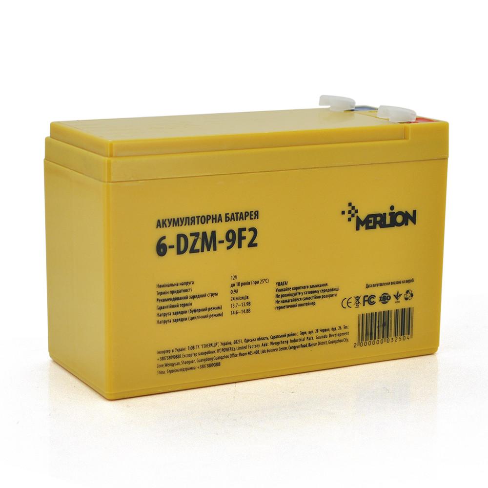Тяговая аккумуляторная батарея AGM MERLION 6-DZM-9, 12В, 9Ач