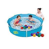 Каркасный бассейн Bestway 56283-1, 152 х 38 см (шарики 10 шт.)