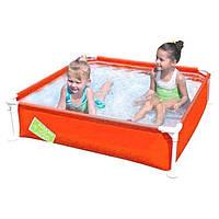 Каркасный бассейн Bestway 56217, 122 х 122 х 30.5 см, оранжевый