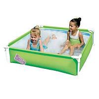 Каркасный бассейн Bestway 56217, 122 х 122 х 30.5 см, зеленый
