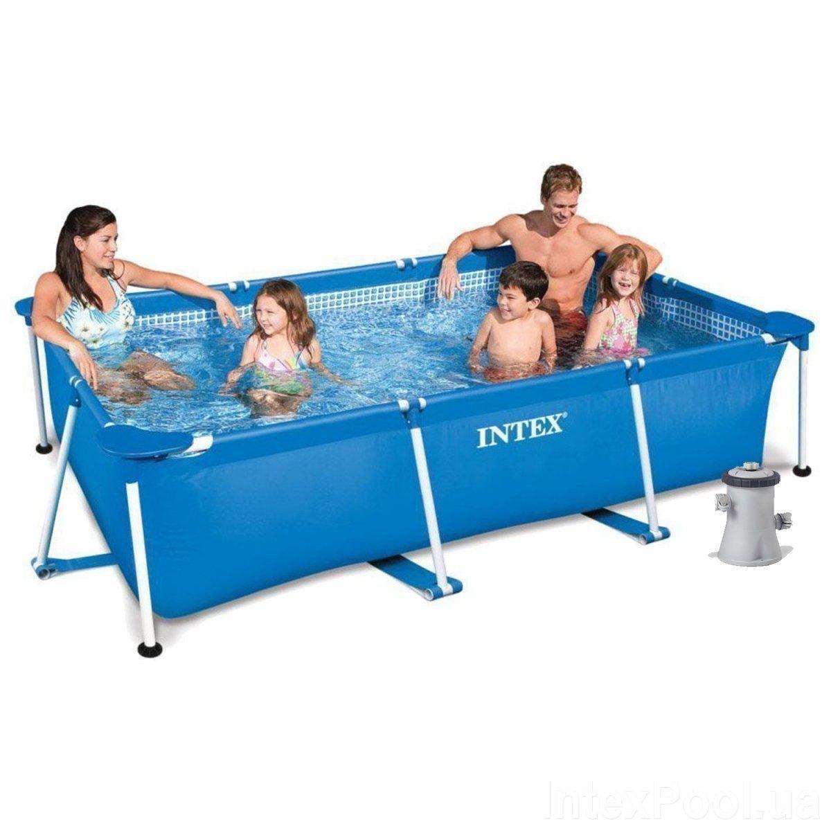 Каркасный бассейн Intex 28271 - 3, 260 х 160 х 65 см (1 250 л/ч, тент, подстилка)