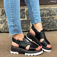Черные босоножки на липучках, фото 1