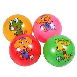 """М'яч дитячий (мяч детский) 9"""" BT-PB-0148 (300шт) тваринки 4 малюнки 4 кольори 60 г сітка"""