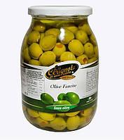 Итальянские оливки без косточки фаршированные перцем LA CERIGNOLA 950г