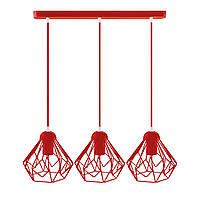 Подвесной  светильник, индустриальный стиль стиль, loft, vintage SKRAB-3 Е27  красный