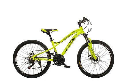"""Велосипед горный Oskar 24"""" FLAME M121 Алюминий Желтый с амортизациейХардтейл Велосипед для гір MTB, фото 2"""