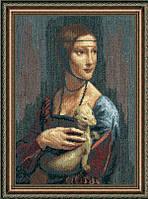 """Набор для вышивки крестиком Чарівна Мить №295 По мотивам Леонардо да Винчи """"Дама с горностаем"""""""