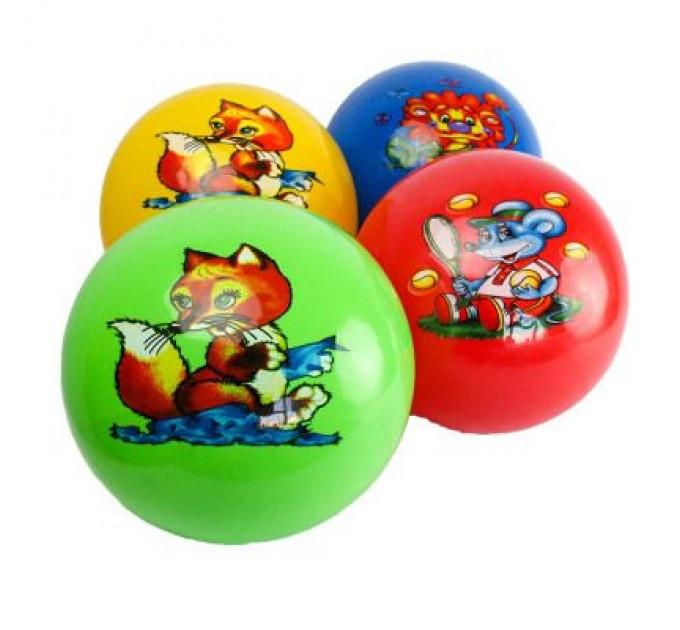 """М'яч дитячий (мяч детский) 6"""" BT-PB-0023 тваринки 4 малюнки 4 кольори 60 г сітка Червоний"""