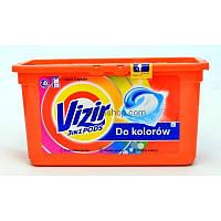 Капсули для прання vizir all in 1 pods do kolorow (до кольору) 41шт
