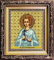 """Набор для вышивки бисером Чарівна Мить Б-1208 """"Икона святой праведный Артемий Веркольский"""""""