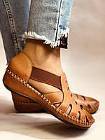Супер комфорт! Очень удобные!  Женские кожаные босоножки .Размер 36.38.Турция.Магазин Vellena, фото 3
