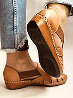 Супер комфорт! Очень удобные!  Женские кожаные босоножки .Размер 36.38.Турция.Магазин Vellena, фото 5
