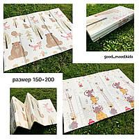 Теплый  коврик  для ползания Мышки и Лес 150*200