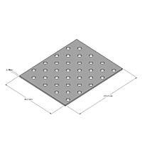 Пластина прямая перфорированная 80х100х2,0 мм