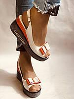 Модні босоніжки на невисокій платформі.Натуральна шкіра. Розмір 36. 37.38,39.Туреччина. Магазин Vellena, фото 4