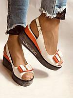 Модні босоніжки на невисокій платформі.Натуральна шкіра. Розмір 36. 37.38,39.Туреччина. Магазин Vellena, фото 3