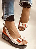 Модні босоніжки на невисокій платформі.Натуральна шкіра. Розмір 36. 37.38,39.Туреччина. Магазин Vellena, фото 5