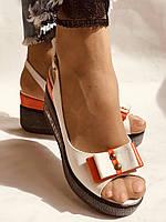 Модні босоніжки на невисокій платформі.Натуральна шкіра. Розмір 36. 37.38,39.Туреччина. Магазин Vellena, фото 7