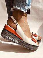 Модні босоніжки на невисокій платформі.Натуральна шкіра. Розмір 36. 37.38,39.Туреччина. Магазин Vellena, фото 2