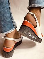 Модні босоніжки на невисокій платформі.Натуральна шкіра. Розмір 36. 37.38,39.Туреччина. Магазин Vellena, фото 6