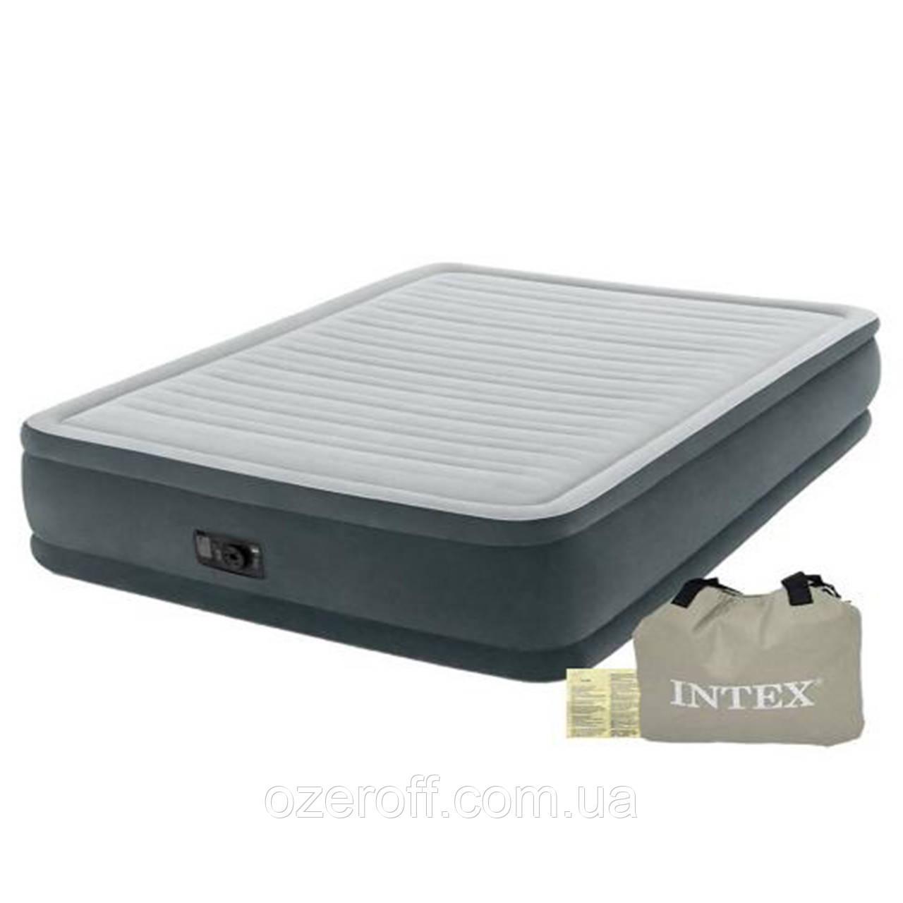 Надувне ліжко Intex 64126 з електронасосом 152 x 203 x 46 см