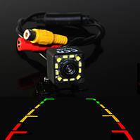 Универсальная камера заднего вида кубик с 12 диодами (КЗВ-107)