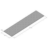Пластина прямая перфорированная 60х240х2,0 мм
