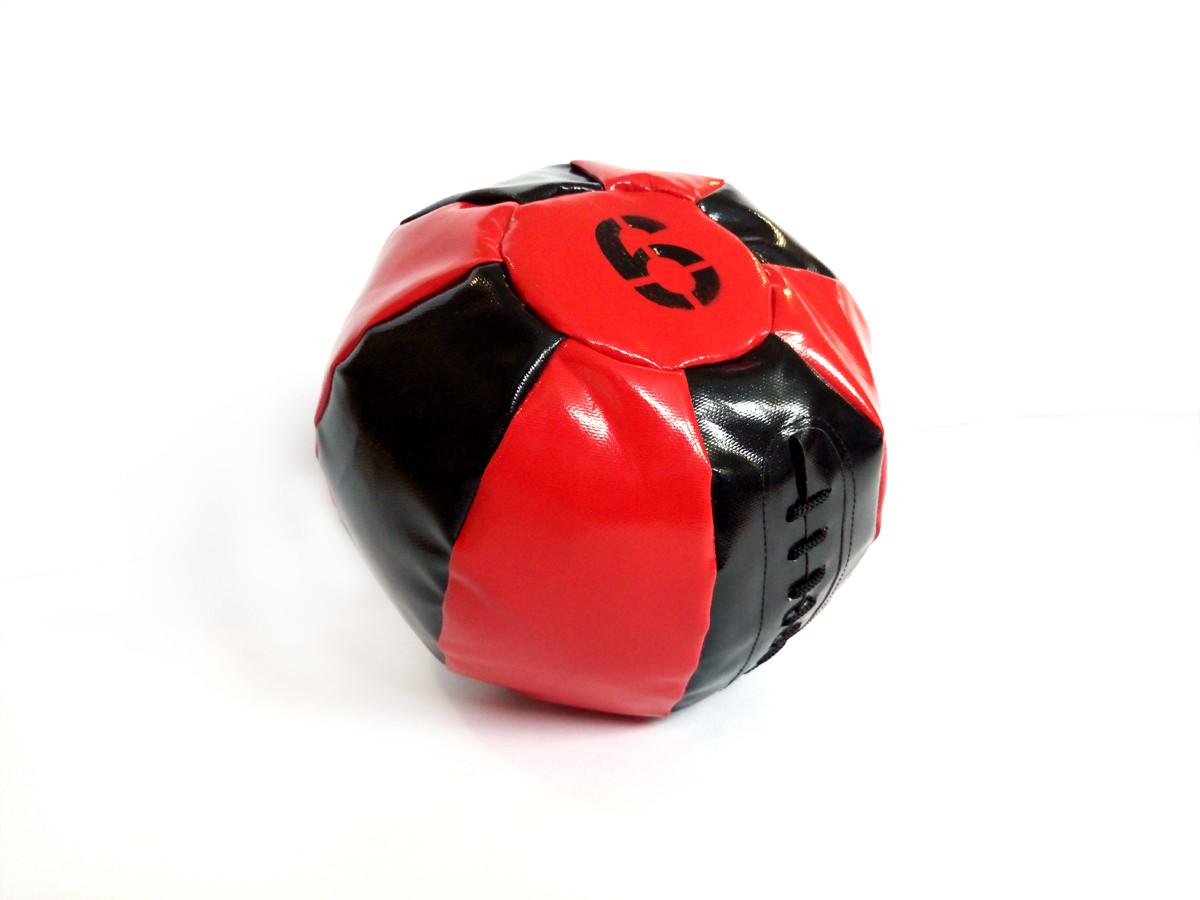 Медбол 6 кг чорно-червоний