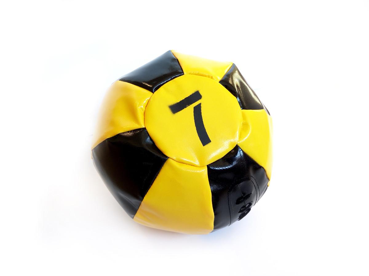 Медбол 7 кг чорно-жовтий