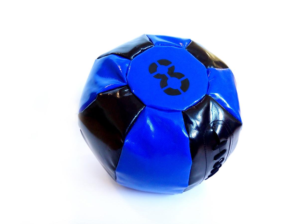 Медбол 8 кг чорно-синій