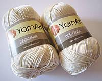 Пряжа Begonia 50гр - 169м (6282 Молочный) YarnArt