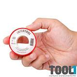 Лента тефлоновая, фум (политетрафторэтиленовая) 15 м*0.1 мм*12 мм, 0.2 г/см³ INTERTOOL IT-0001, фото 3